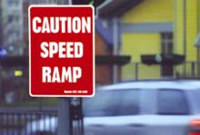 Hazard supplies a wide range of reflective warning signage to give drivers maximum warning of the speed ramps ahead