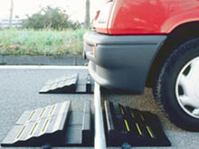 For some locations you can install the hose ramps in sections lined up the wheels of the oncoming traffic.