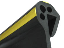 Co-extruded in EPDM black and yellow rubber for a long service life and a quick installation