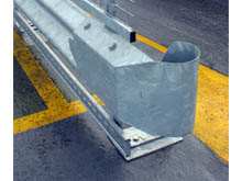Steel Swirl ends, galvanised are the used In locations where there are pedestrians such as multi-storey cars parks.