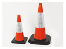 We have a complete range of traffic cones from 450mm up to 1000mm, all are highway approved For UK roads. Can be easily seen 24/7, even in poor conditions.