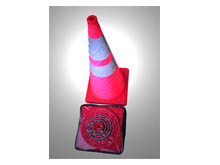 Stackable cones are a brilliant idea, very compact design; they simply fold down into their zip up case.