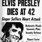 Elvis is dead newspaper headline