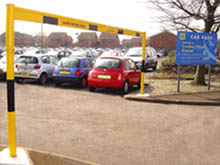 Height restrictor in car park location