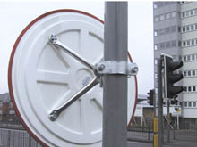 All the safety and traffic mirrors are supplied with fittings for wall or post mounting. Sturdy frames for external installations in case of high winds.