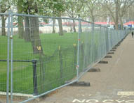 Safety fencing can be quickly erected and is very stable making it ideal for long term continuous run installations.