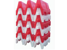 The separators are designed to be stackable making them very cost effective to deliver to your site, easy and safe to handle.