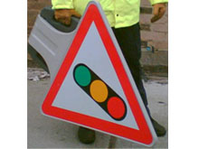 Smart temporary reflective signage is easy to carry and simple and quick to erect on site and busy highways.