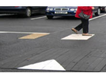 All rubber speed cushions can be located in front of marked pedestrian crossing to creating a safer environment on your site.