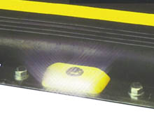 Powerful highway reflectors are an important safety of the plate fixing kit pack. Working 24/7 they self clean as traffic drives over wiping any debris clear.