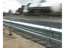 Steel crash barrier