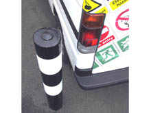 JB1 Steel bollards have a tough plastic coating for a long life and have coloured bands for extra safety and to raise awareness.