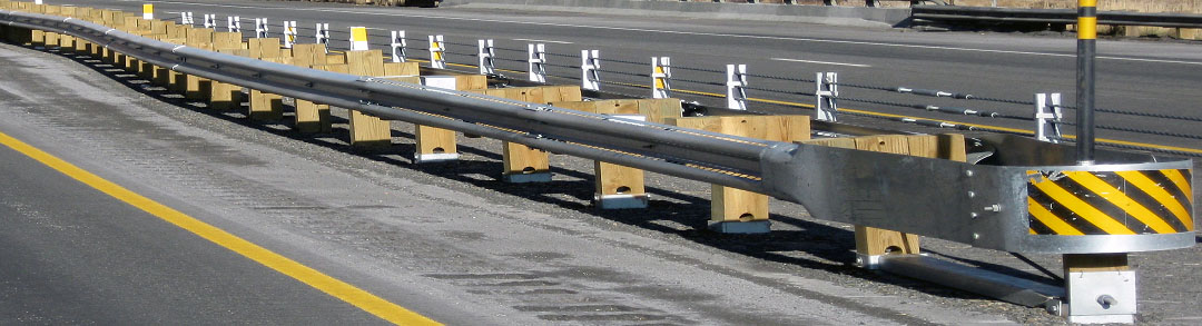 Crash barrier on highway