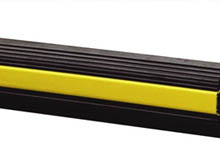 Black and yellow EPDM solid rubber wall buffer is supplied cut to size in the correct hazard warning colours for extra safety.