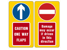 Reflective warning signs will help raise driver's awareness and help police our one-way traffic flow.