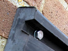 The rubber WB/7 wall buffer has anchor bolts are concealed in two deep slots that run the length of the wall buffer.