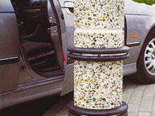 The BS range of rubber buffers can be fitted to circular bollards for a smart professional finish.