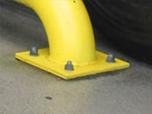 The wheel guide with a bolt down base is the preferred version and reduces in installation time on site
