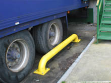Compact design, the wheel guides are 2 metres overall length, a very proven safety product