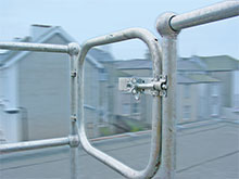 Safety handrail installed on rooftop