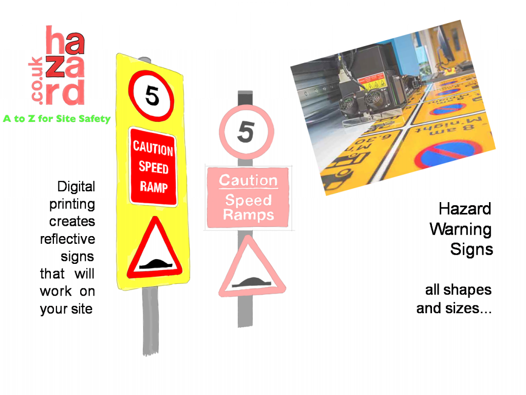 Reflective warning signs