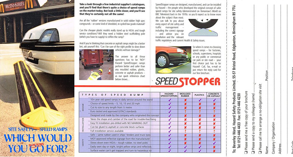 Hazard brochure